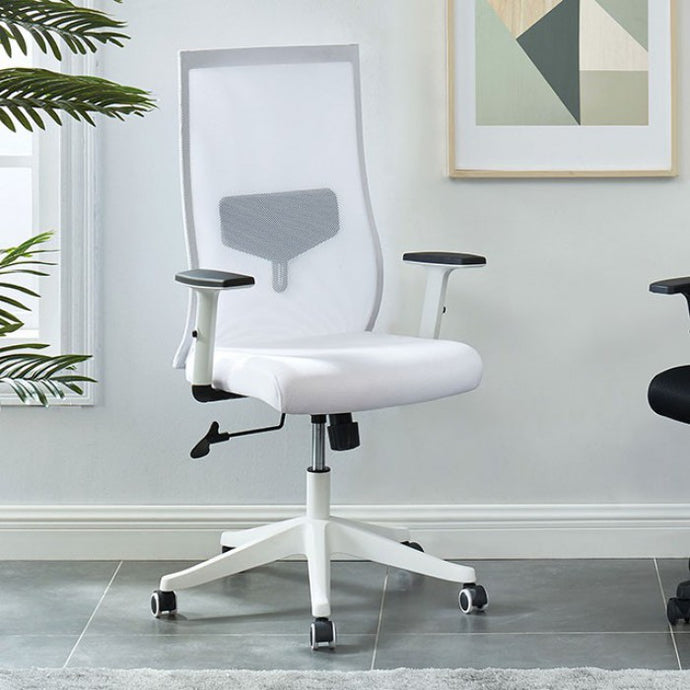 Furniture Of America Orli White Metal And Mesh Finish Office Chair