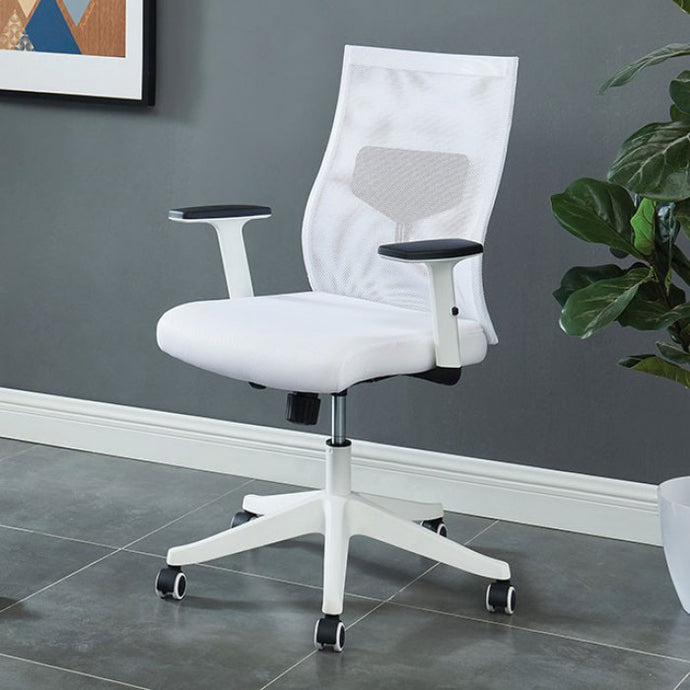 Furniture Of America Orli White Metal Mesh Finish Office Chair