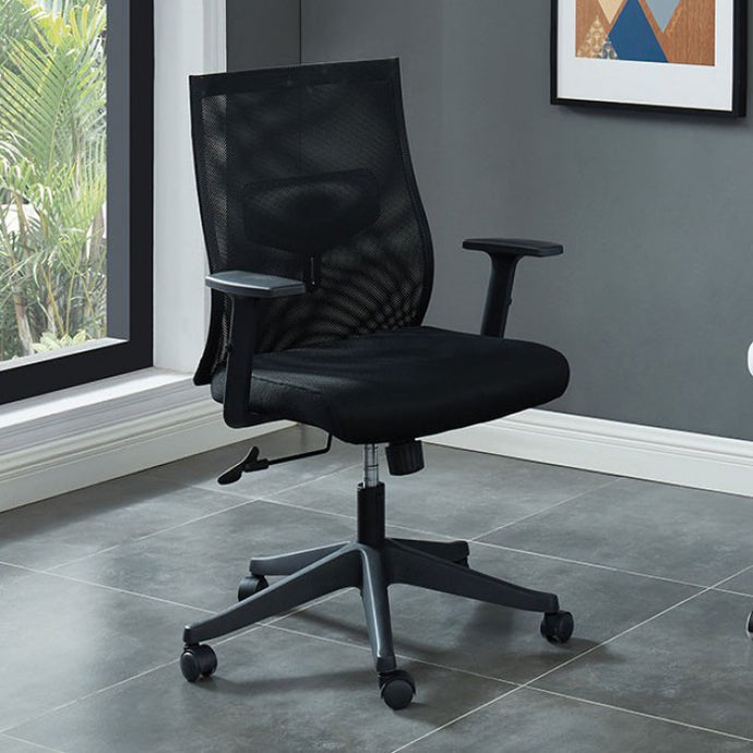 Furniture Of America Orli Black Metal Mesh Finish Office Chair