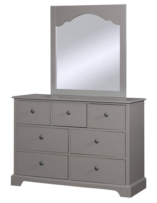 Furniture Of America Diane Gray Wood Finish Dresser With Mirror