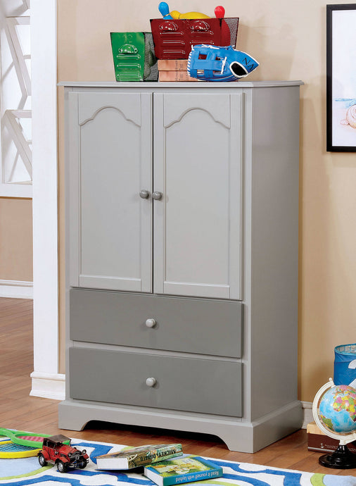 Furniture Of America Diane Gray Wood Finish Armoire