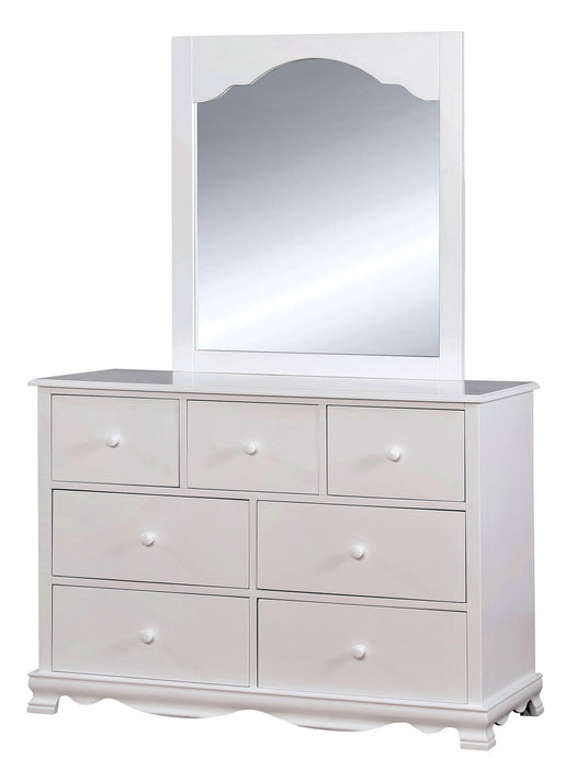 Furniture Of America Dani White Wood Finish Dresser With Mirror