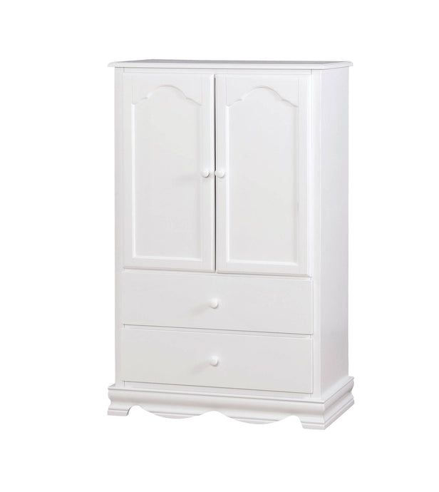 Furniture Of America Dani White Wood Finish Armoire