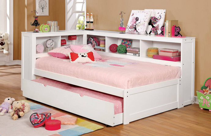 Furniture Of America Frankie White Wood Finish Full Daybed With Trundle