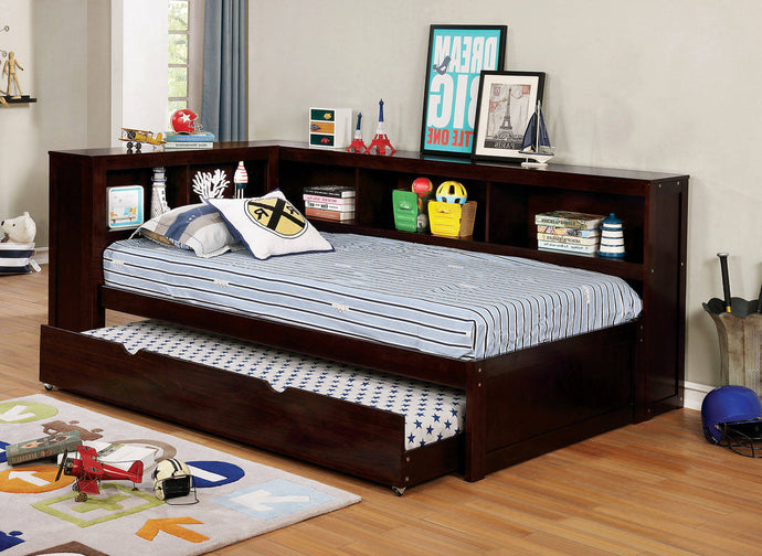 Furniture Of America Frankie Walnut Wood Finish Full Daybed With Trundle