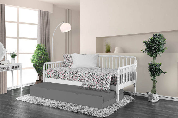 Furniture Of America Linda White Metal Finish Twin Daybed