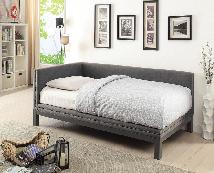 Furniture Of America Kaitlynn Gray Linen Finish Twin Daybed