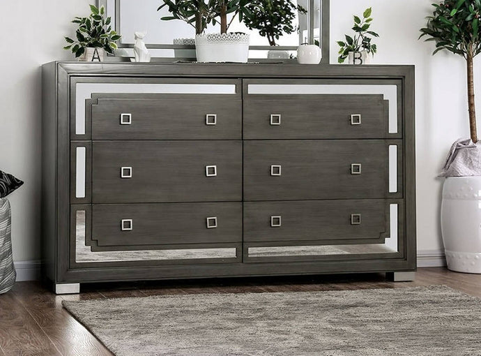 Furniture Of America Jeanine Gray Wood Finish Dresser