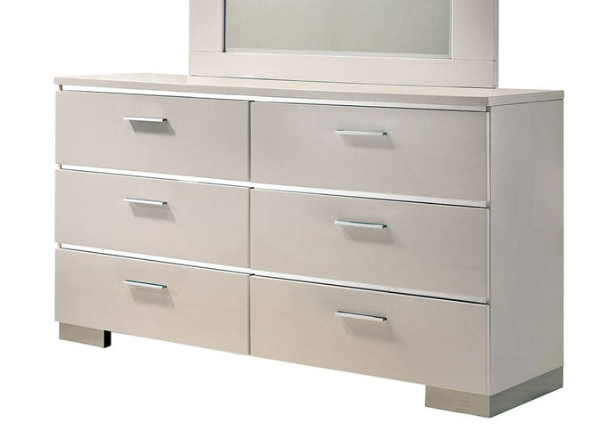 Furniture Of America Malte White Wood Finish Dresser