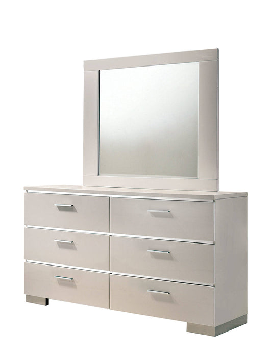 Furniture Of America Malte White Wood Finish Dresser With Mirror