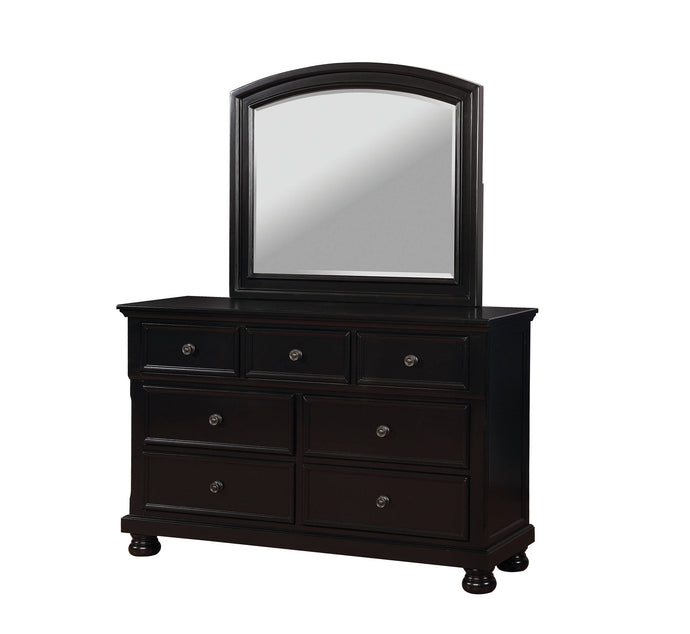 Furniture Of America Castor Black Wood Finish Dresser With Mirror