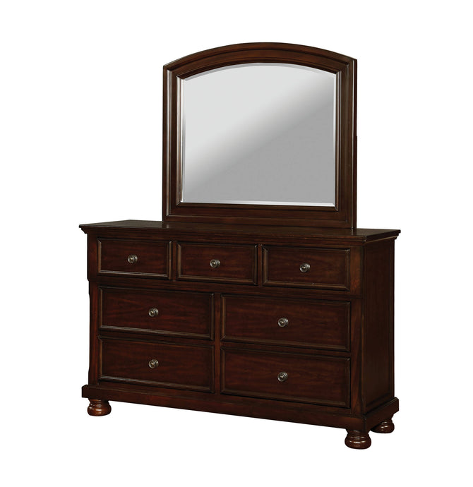 Furniture Of America Castor Cherry Wood Finish Dresser With Mirror