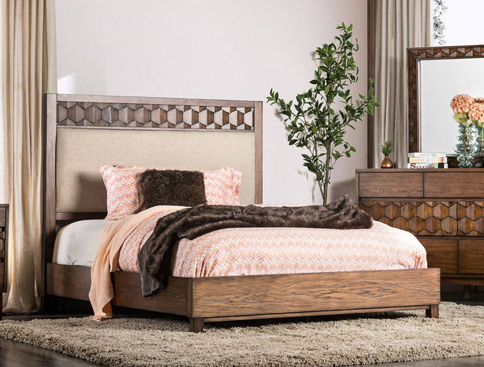 Furniture Of America Kallisto Brown Wood Finish Eastern King Bed