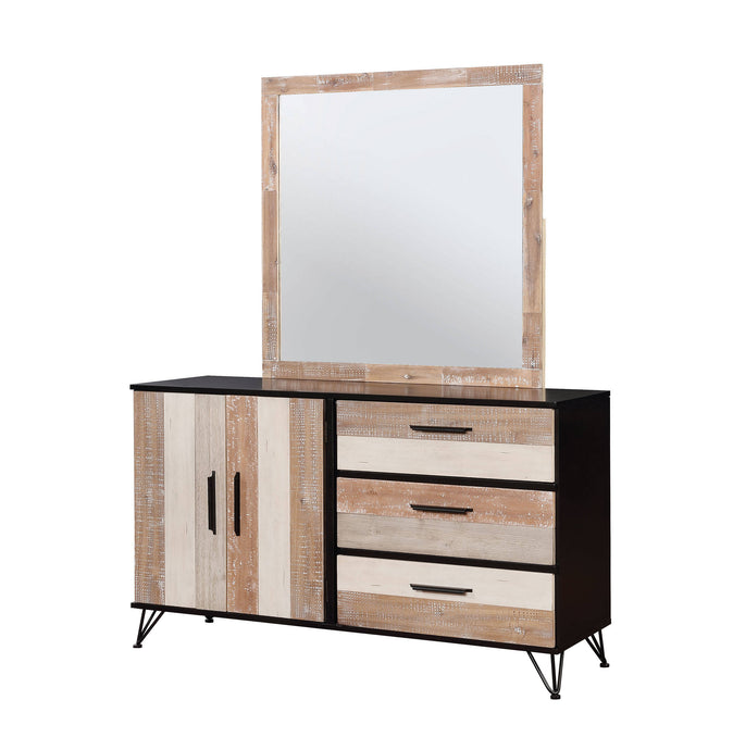 Furniture Of America Haddel Espresso Wood Finish Dresser With Mirror