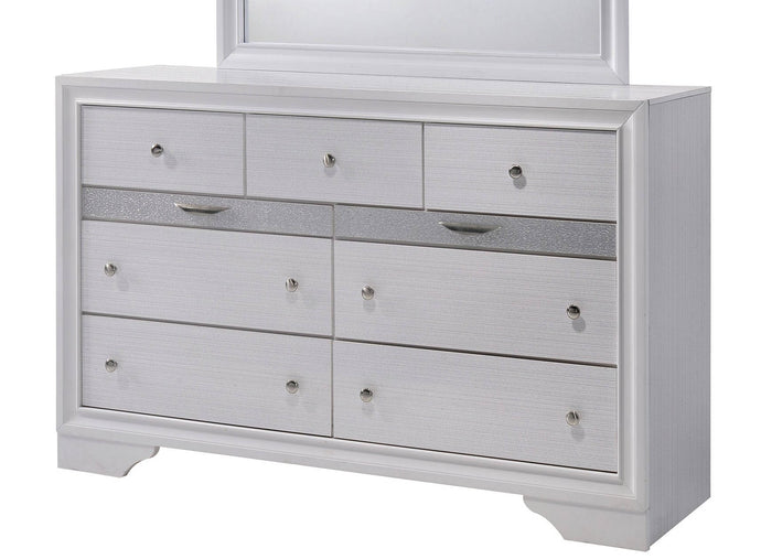 Furniture Of America Chrissy White Wood Finish Dresser