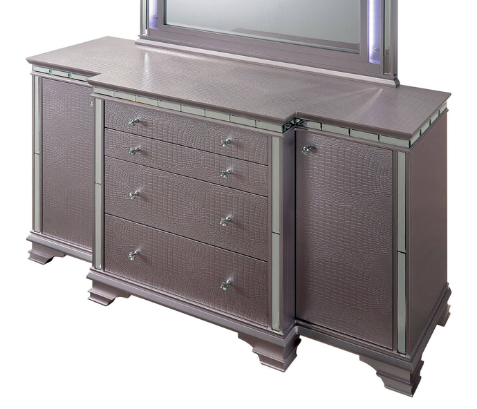 Furniture Of America Claudette Silver Wood Finish Dresser