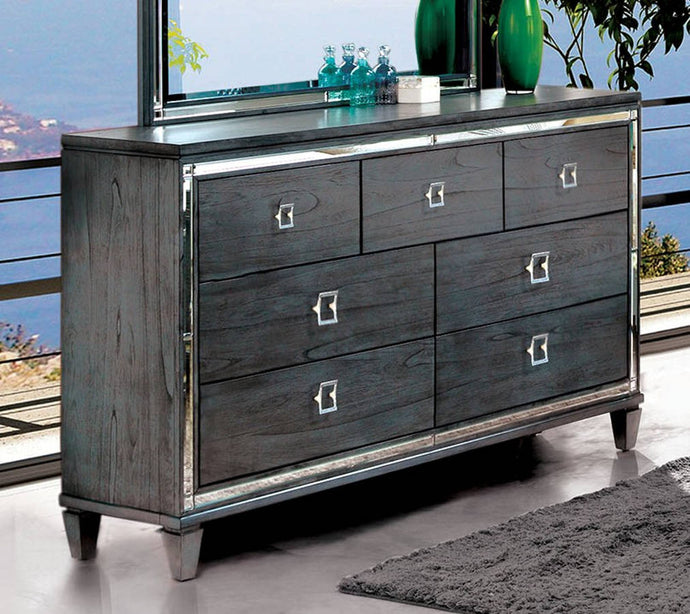 Furniture Of America Clover Gray Wood Finish Dresser