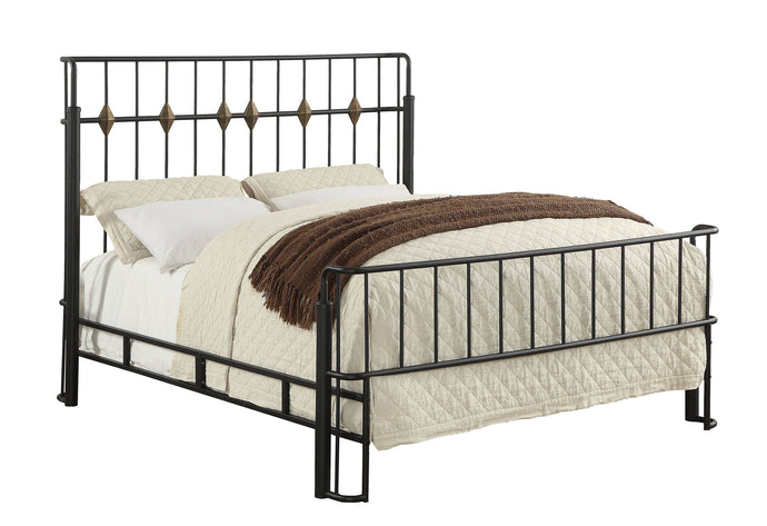Furniture Of America Charla Black Metal Finish Queen Bed