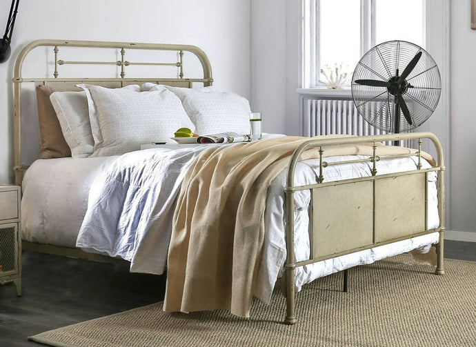 Furniture Of America Haldus Ivory Metal Finish Eastern King Bed