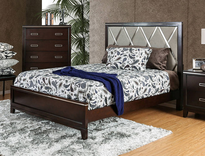 Furniture Of America Winnifred Cherry Wood Finish California King Bed