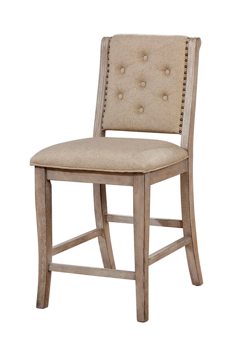 Furniture Of America Ledyard Brown Wood Finish 2 Piece Dining Chair