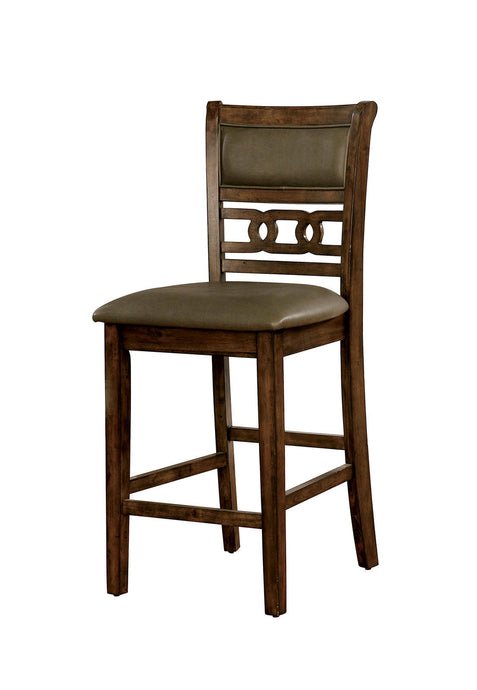 Furniture Of America Flick Oak Wood Finish 2 Piece Dining Chair