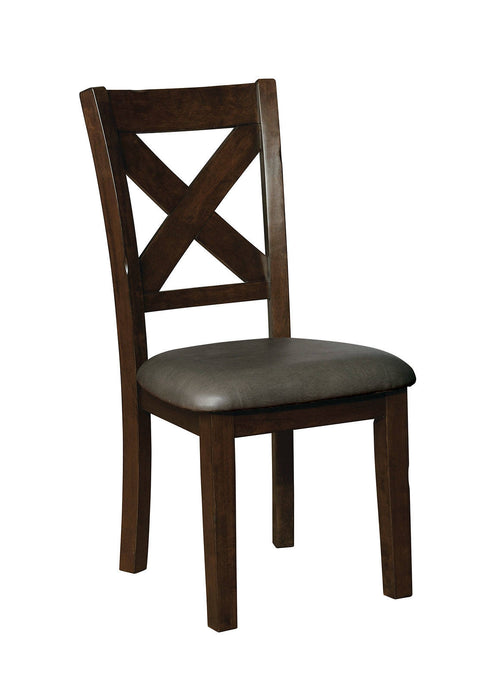 Furniture Of America Josie Cherry Wood Finish 2 Piece Dining Chair