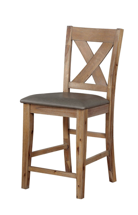 Furniture Of America Lana Natural Wood Finish 2 Piece Dining Chair