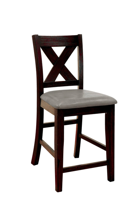 Furniture Of America Lana Walnut Wood Finish 2 Piece Dining Chair