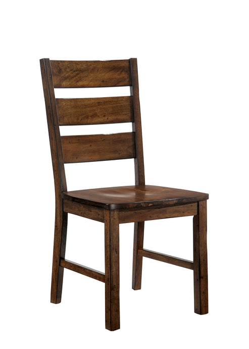 Furniture Of America Dulce Walnut Wood Finish 2 Piece Dining Chair