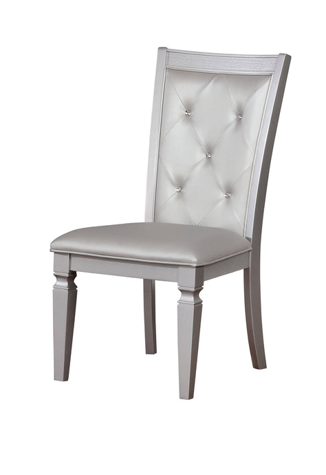 Furniture Of America Alena Silver Wood Finish 2 Piece Dining Chair