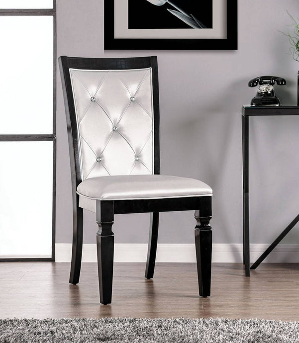 Furniture Of America Alena Black Wood Finish 2 Piece Dining Chair