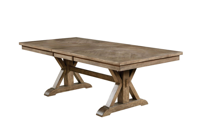 Furniture Of America Julia Gray Wood Finish Dining Table