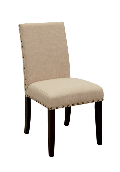 Furniture Of America Kaitlin Beige Wood Finish 2 Piece Dining Chair