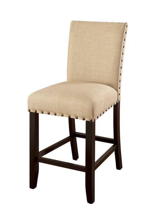 Furniture Of America Kaitlin Beige Wood Finish 2 Piece Counter Height Dining Chair