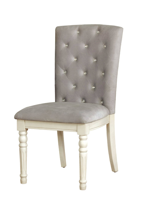 Furniture Of America Nembus Antique White Wood Finish 2 Piece Dining Chair