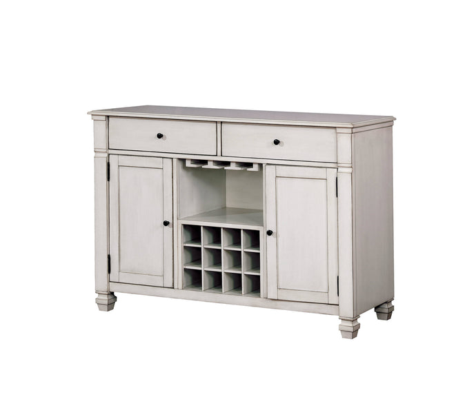 Furniture Of America Kaliyah White Wood Finish Dining Server