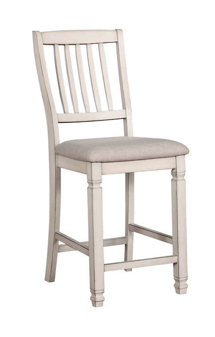 Furniture Of America Kaliyah White Wood Finish 2 Piece Counter Height Dining Chair