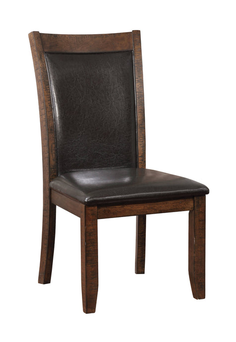 Furniture Of America Maegan I Cherry Wood Finish 2 Piece Dining Chair