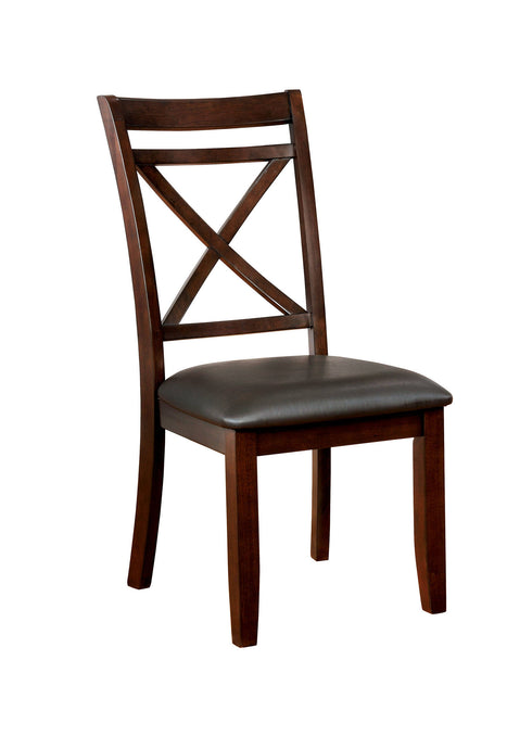 Furniture Of America Jolie Cherry Wood Finish 2 Piece Dining Chair