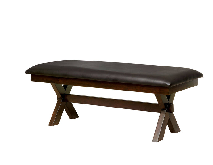 Furniture Of America Jolie Cherry Wood Finish Dining Bench