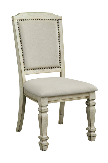 Furniture Of America Holcroft Antique White Wood Finish 2 Piece Dining Chair