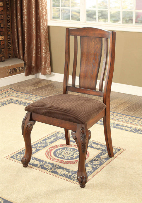 Furniture Of America Johannesburg I Cherry Wood Finish 2 Piece Side Dining Chair