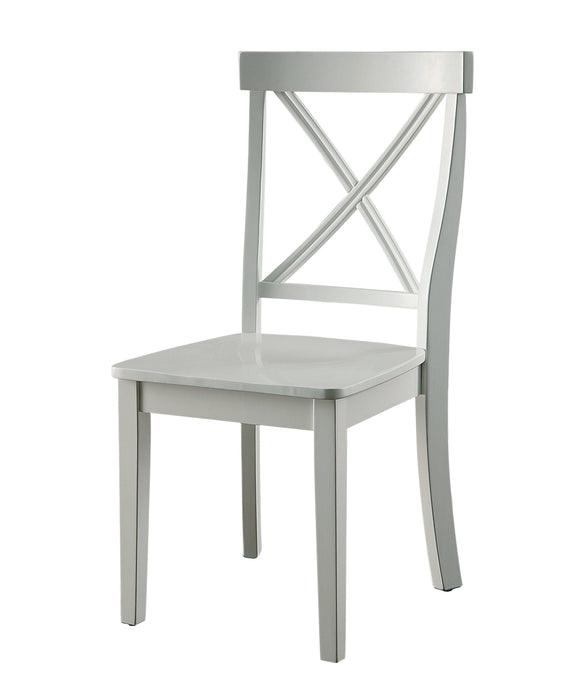 Furniture Of America Penelope White Wood Finish 2 Piece Dining Chair