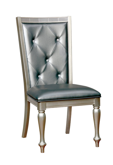 Furniture Of America Sarina Silver Wood Finish 2 Piece Dining Chair