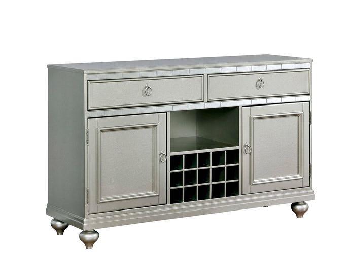 Furniture Of America Sarina Silver Wood Finish Dining Server