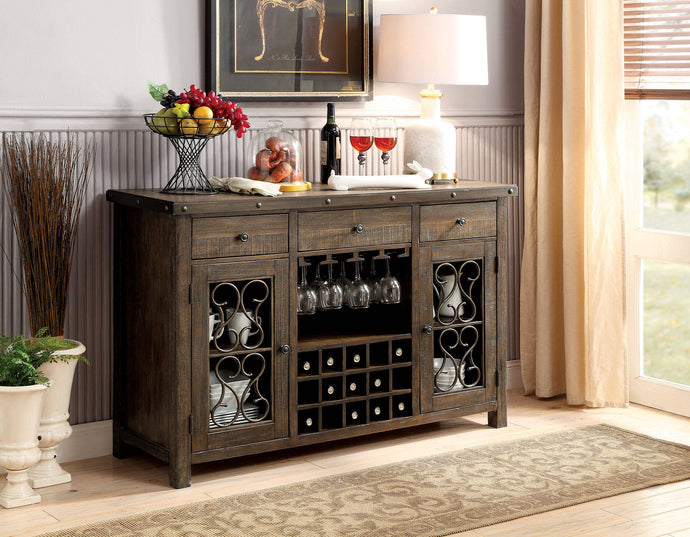 Furniture Of America Paulina Walnut Wood Finish Dining Server