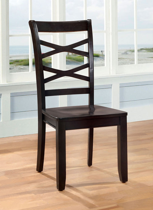 Furniture Of America Giselle Espresso Wood Finish 2 Piece Dining Chair