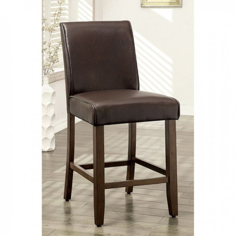 Furniture Of America Edinburg II Oak Leatherette Finish 2 Piece Dining Chair