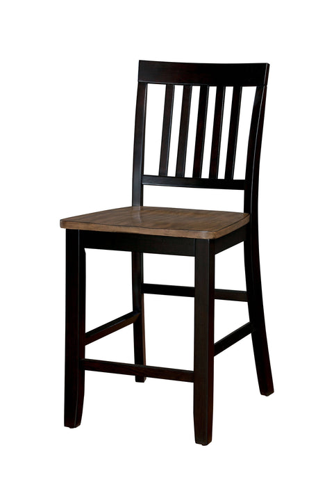 Furniture Of America Izidora Oak Wood Finish 2 Piece Dining Chair